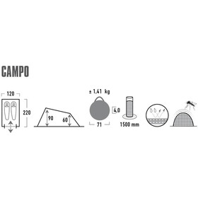 High Peak Campo Tent, black